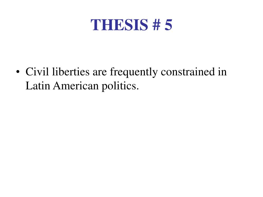 THESIS # 5