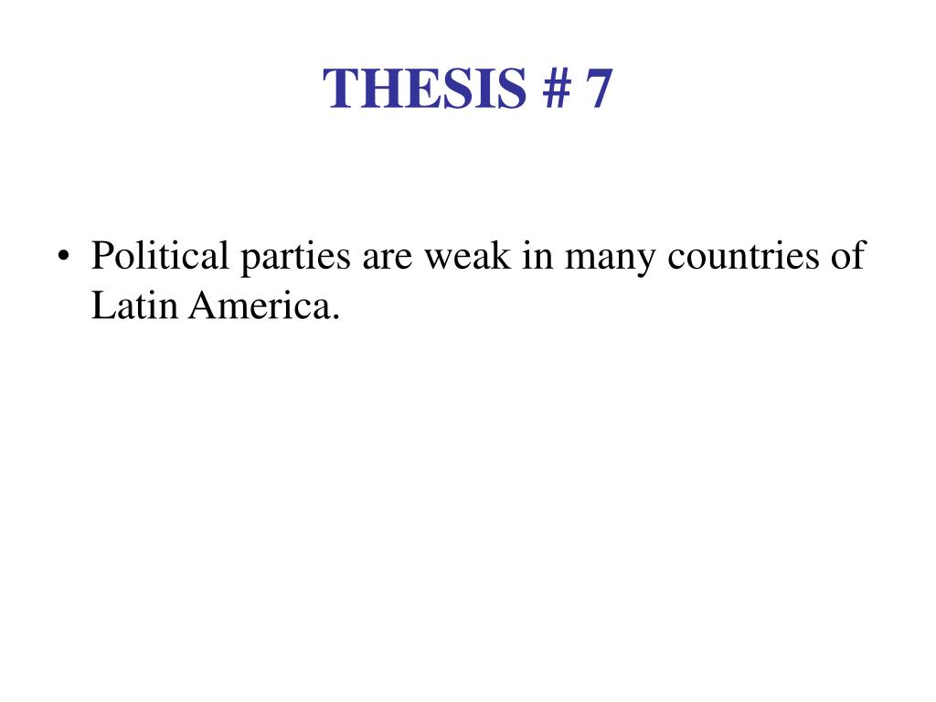 THESIS # 7