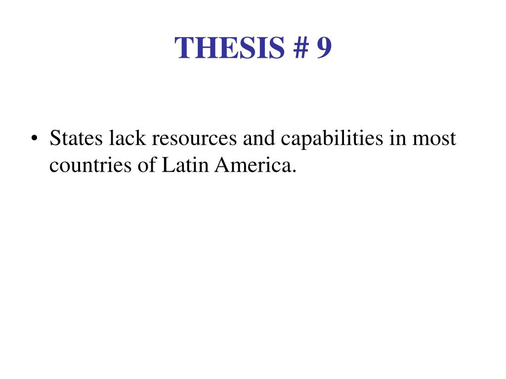 THESIS # 9