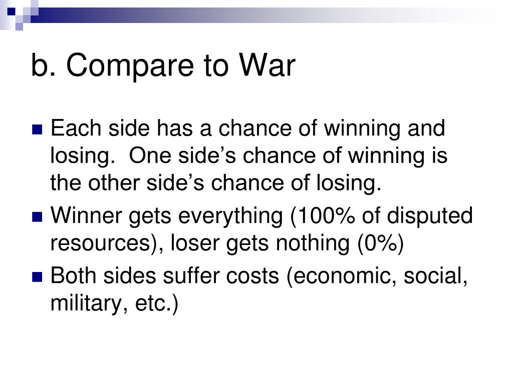 b. Compare to War