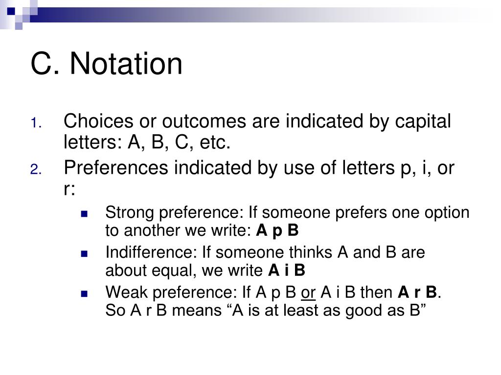 C. Notation