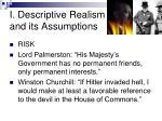 i descriptive realism and its assumptions
