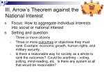 iii arrow s theorem against the national interest