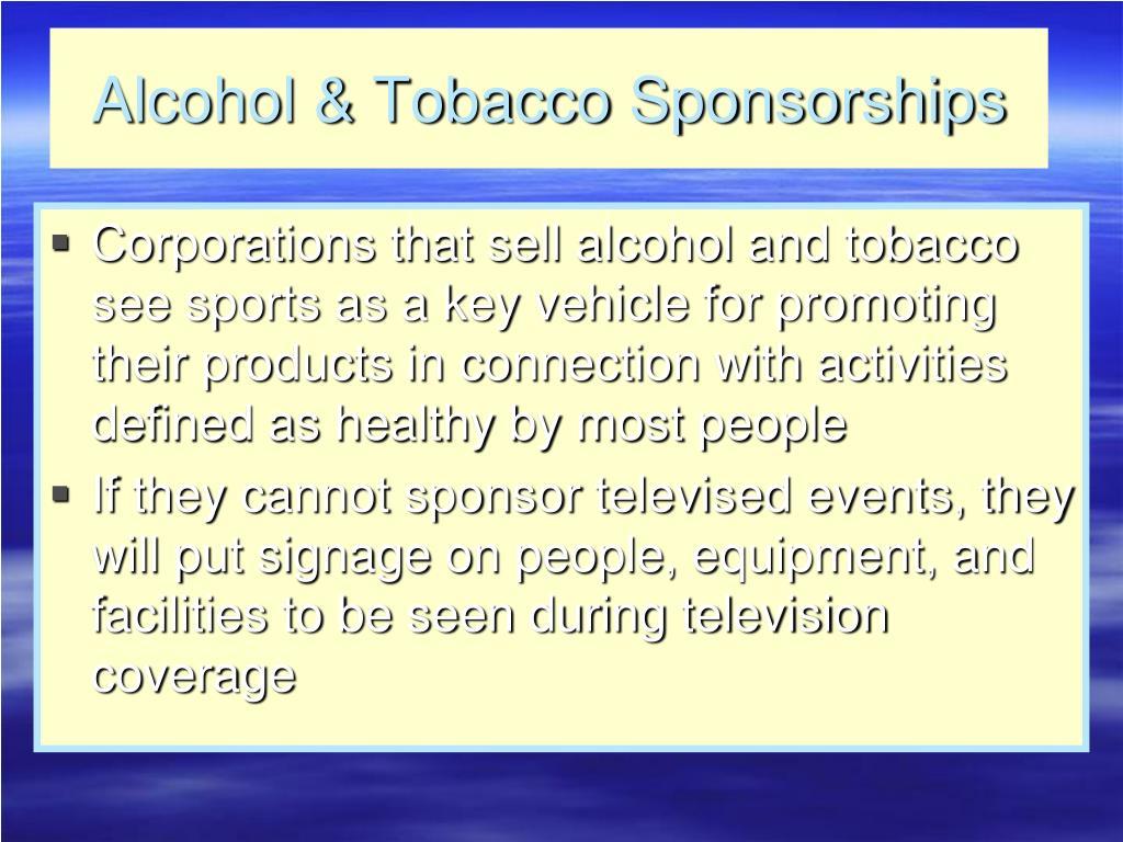 Alcohol & Tobacco Sponsorships