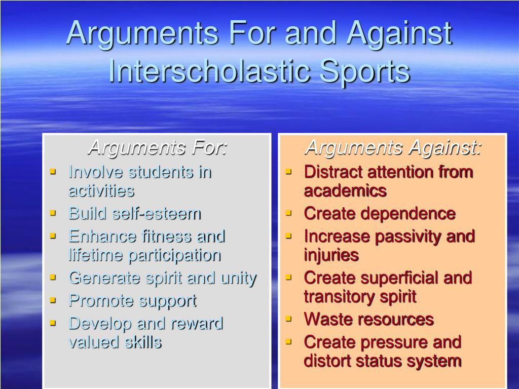 Arguments For: