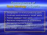 consequences of race ideology in sports