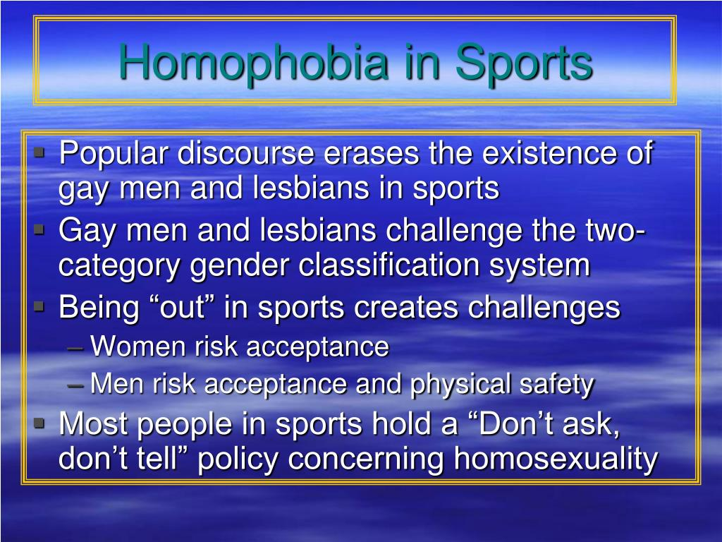Homophobia in Sports