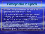 homophobia in sports