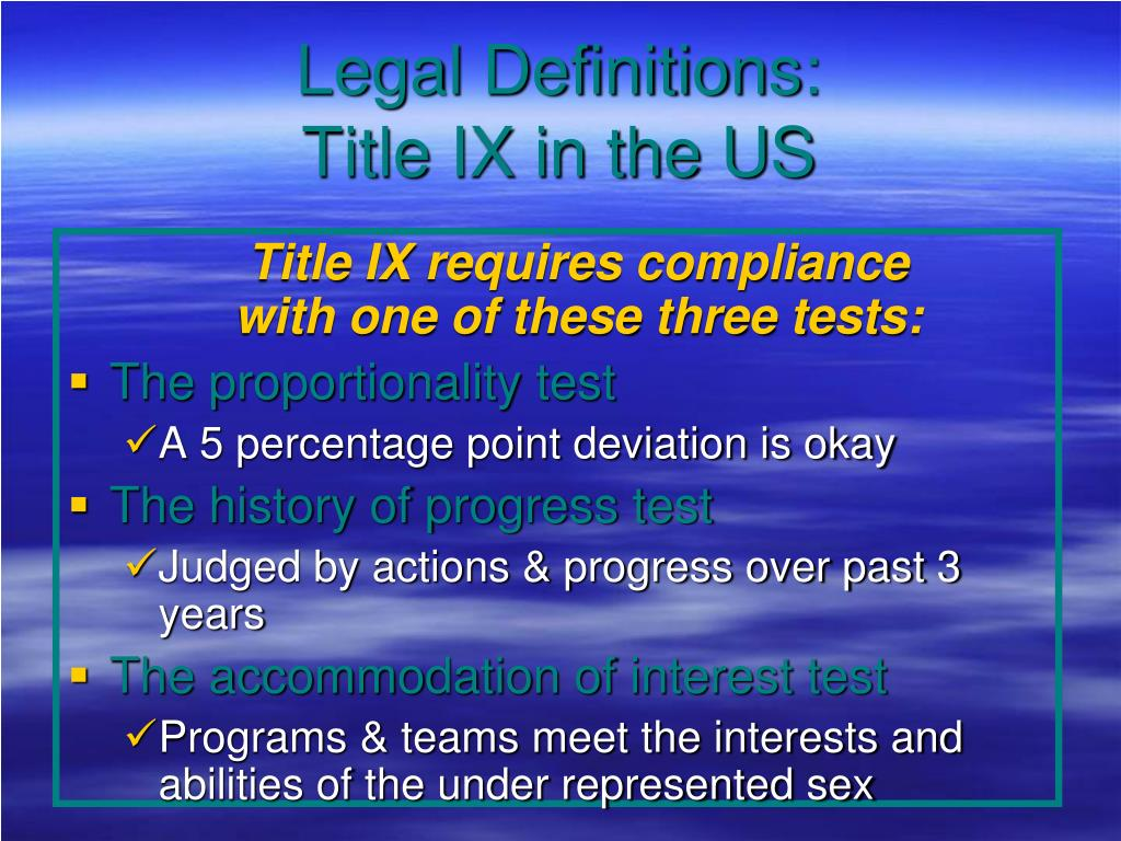 Legal Definitions: