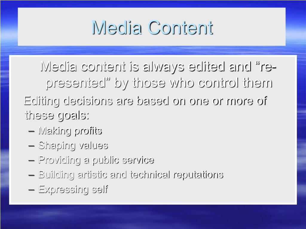 Media Content