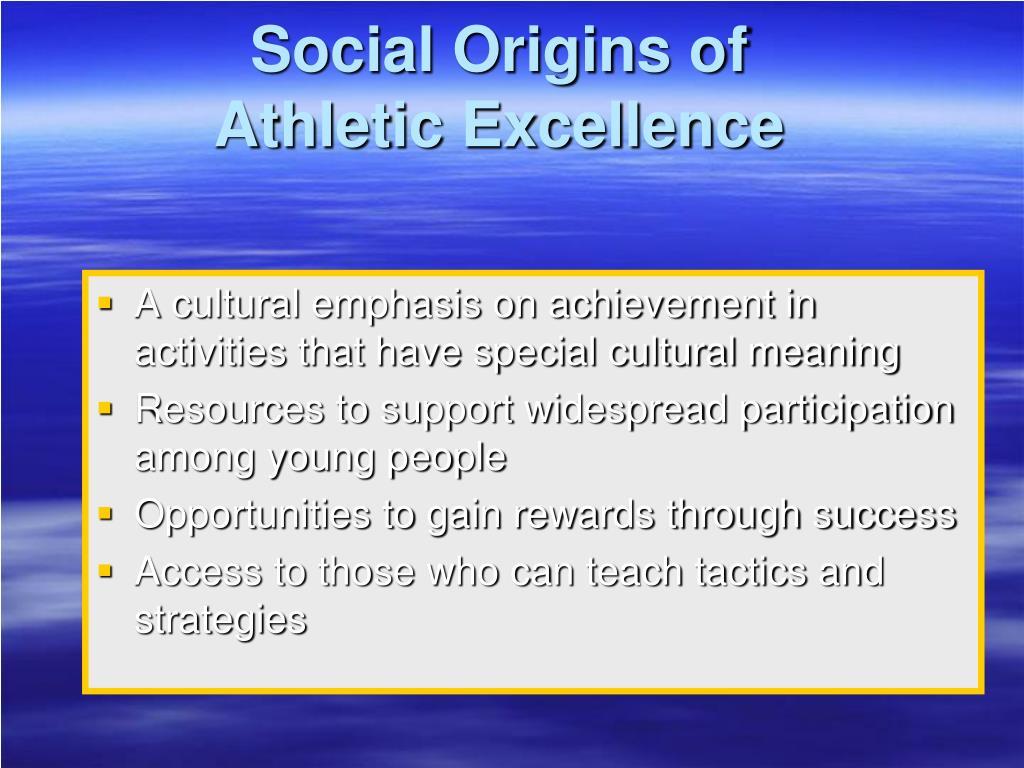 Social Origins of