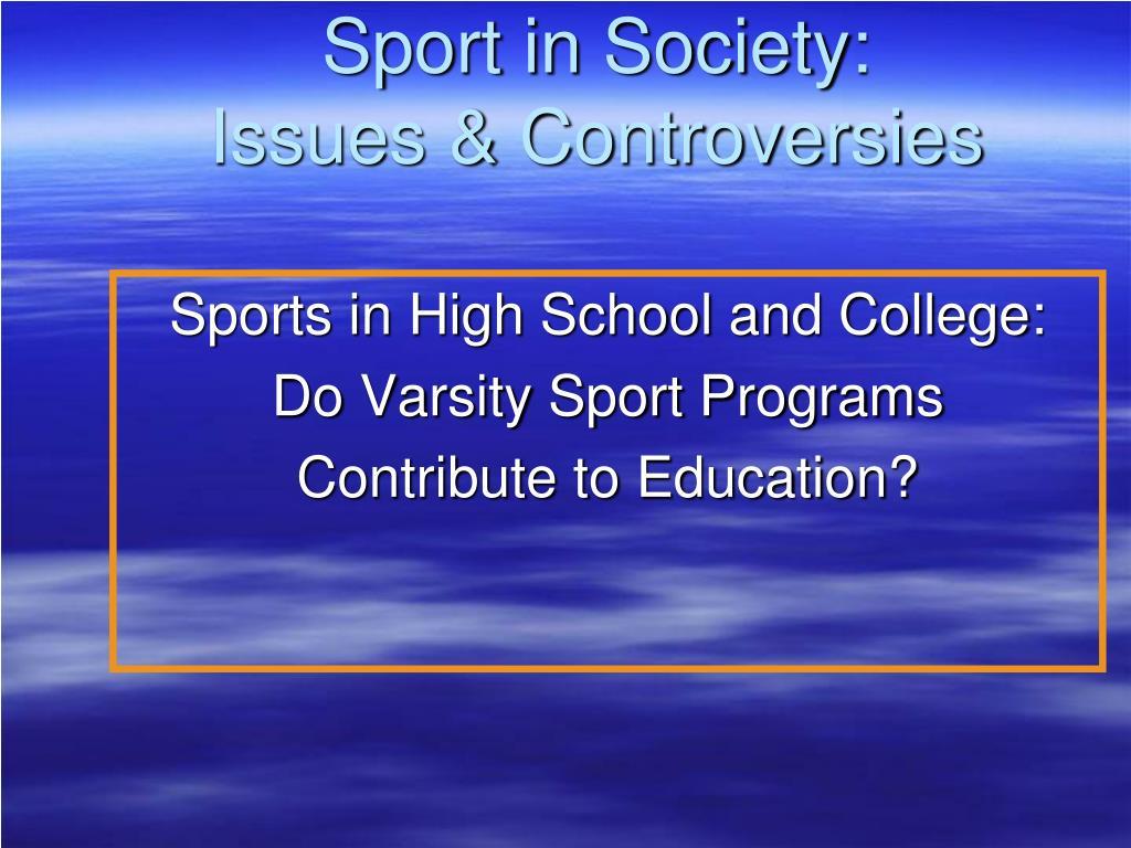 Sport in Society: