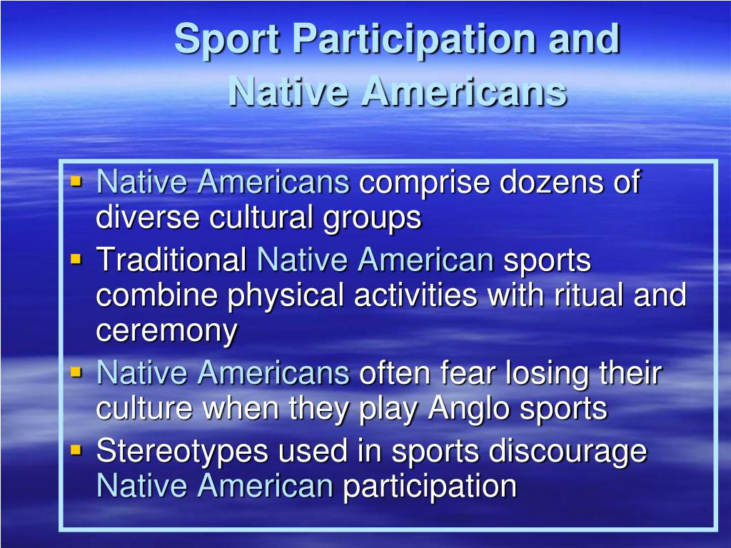 Sport Participation and