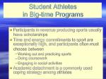 student athletes in big time programs