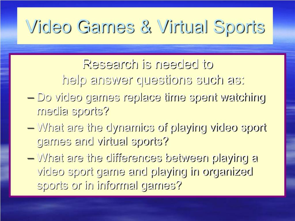 Video Games & Virtual Sports