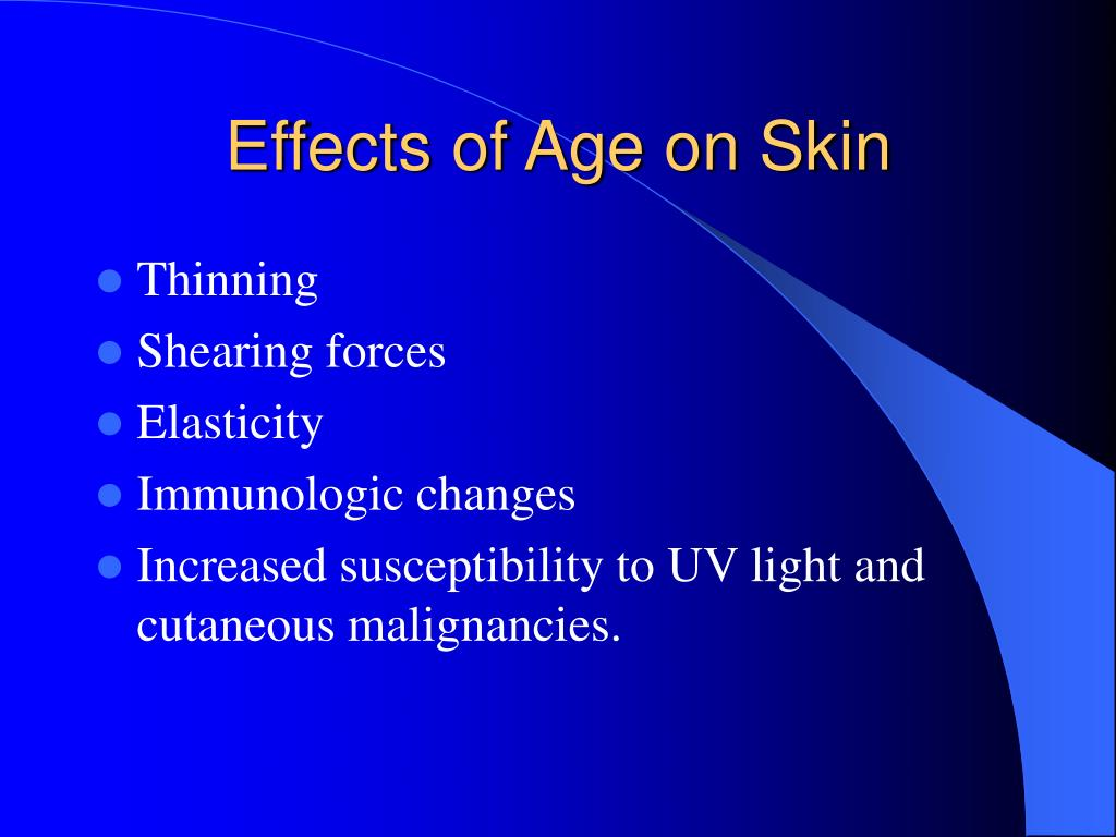 Effects of Age on Skin