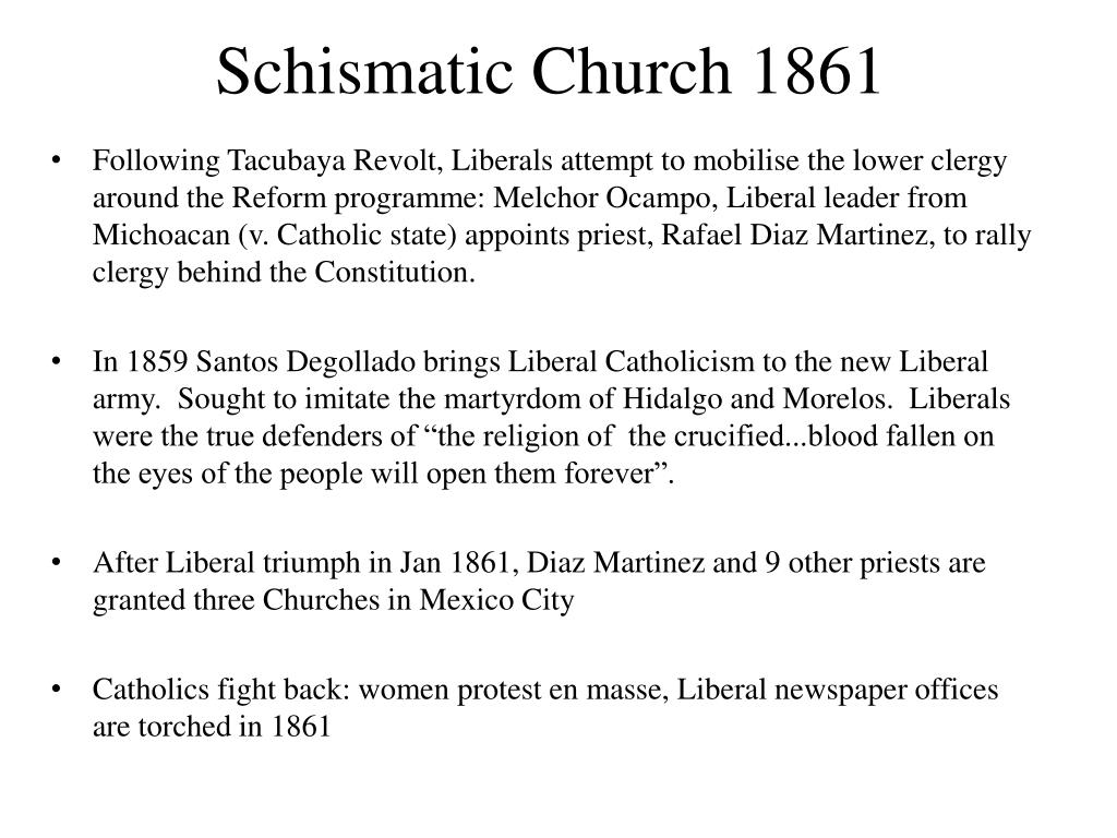 Schismatic Church 1861
