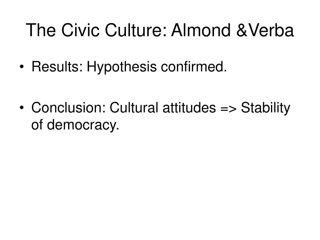 The Civic Culture: Almond &Verba