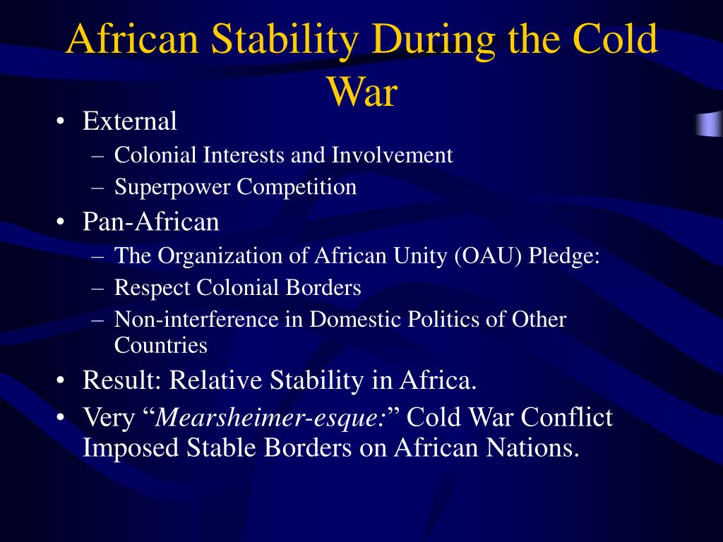 African Stability During the Cold War