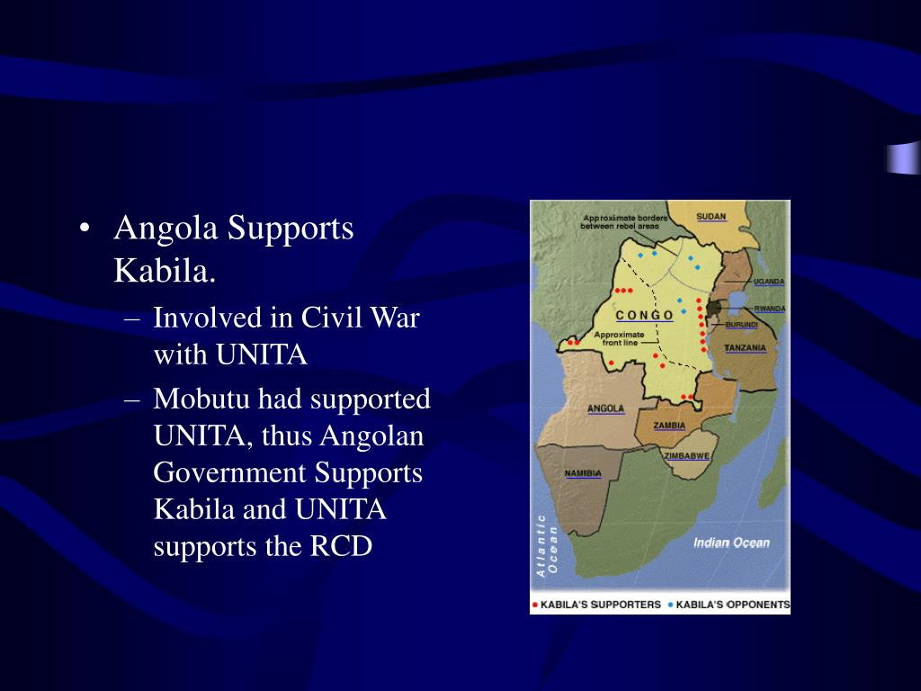 Angola Supports Kabila.