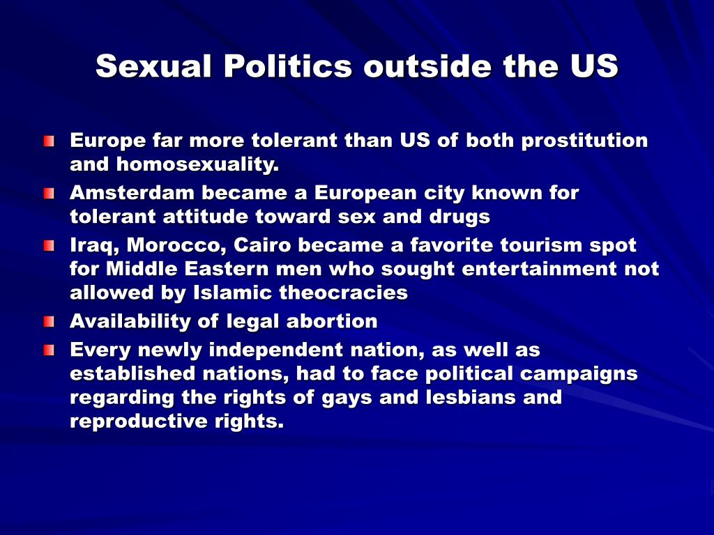 Sexual Politics outside the US