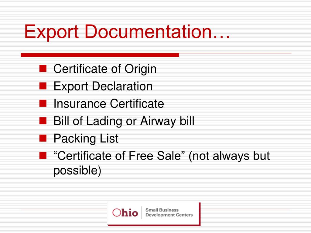 Export Documentation…