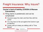 freight insurance why insure
