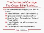 the contract of carriage the ocean bill of lading