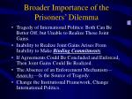 broader importance of the prisoners dilemma