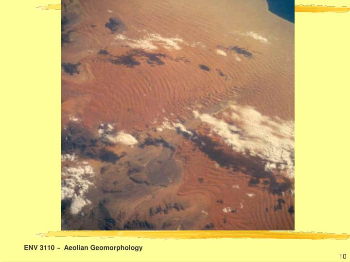 ENV 3110 ~  Aeolian Geomorphology