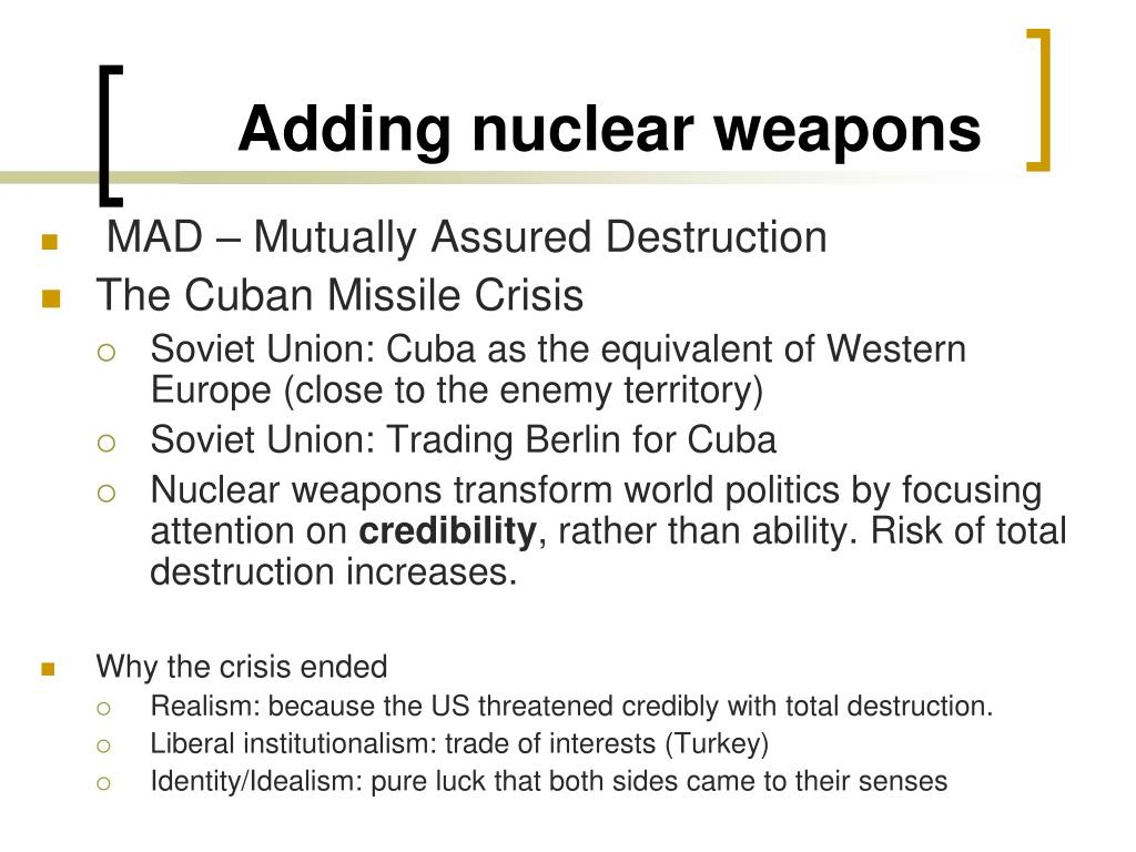 Adding nuclear weapons