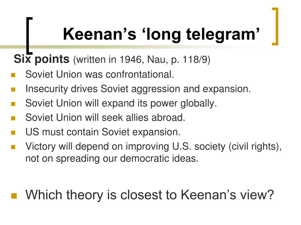 Keenan's 'long telegram'
