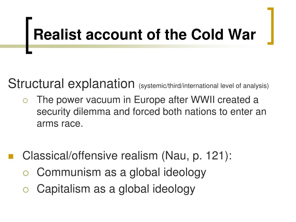 Realist account of the Cold War