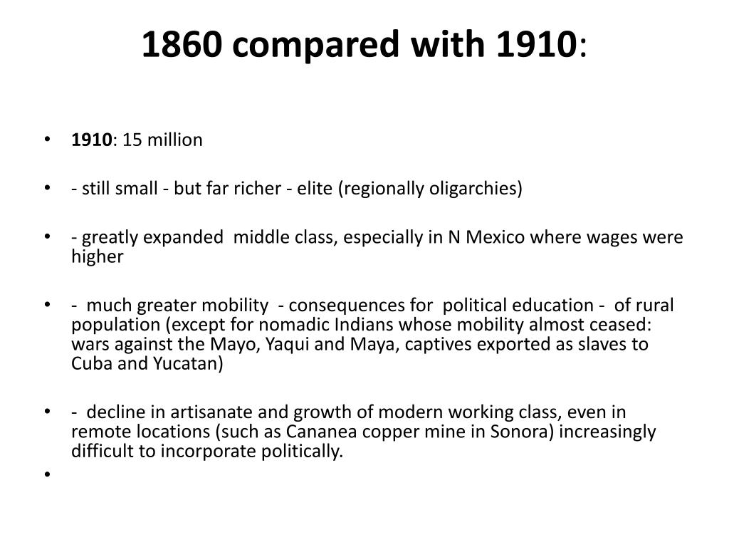 1860 compared with 1910