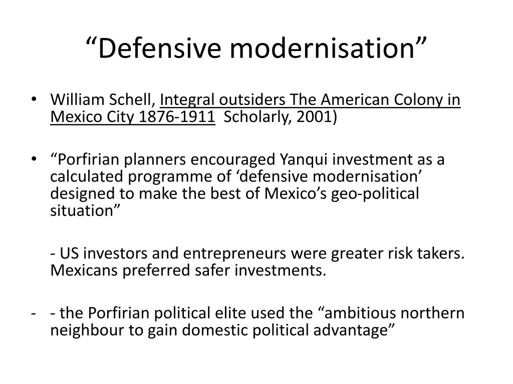 """""""Defensive modernisation"""""""