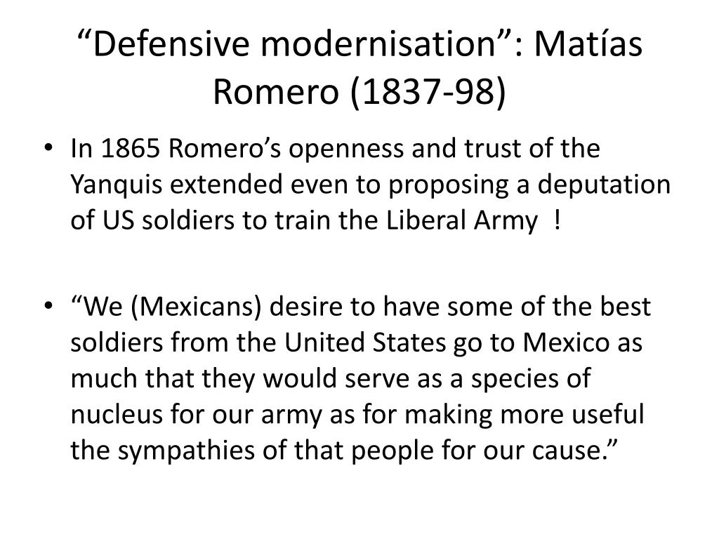 """Defensive modernisation"":"
