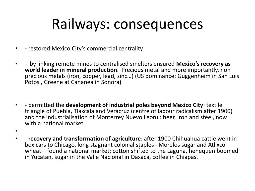 Railways: consequences