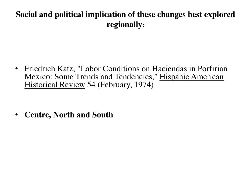 Social and political implication of these changes best explored regionally