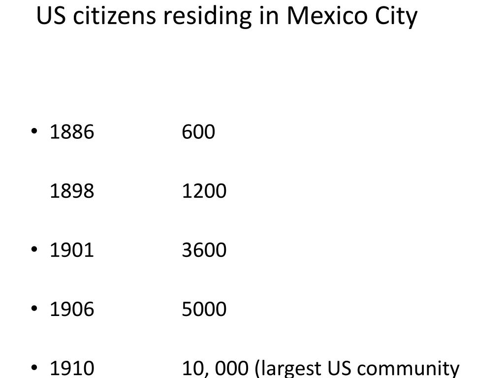 US citizens residing in Mexico City