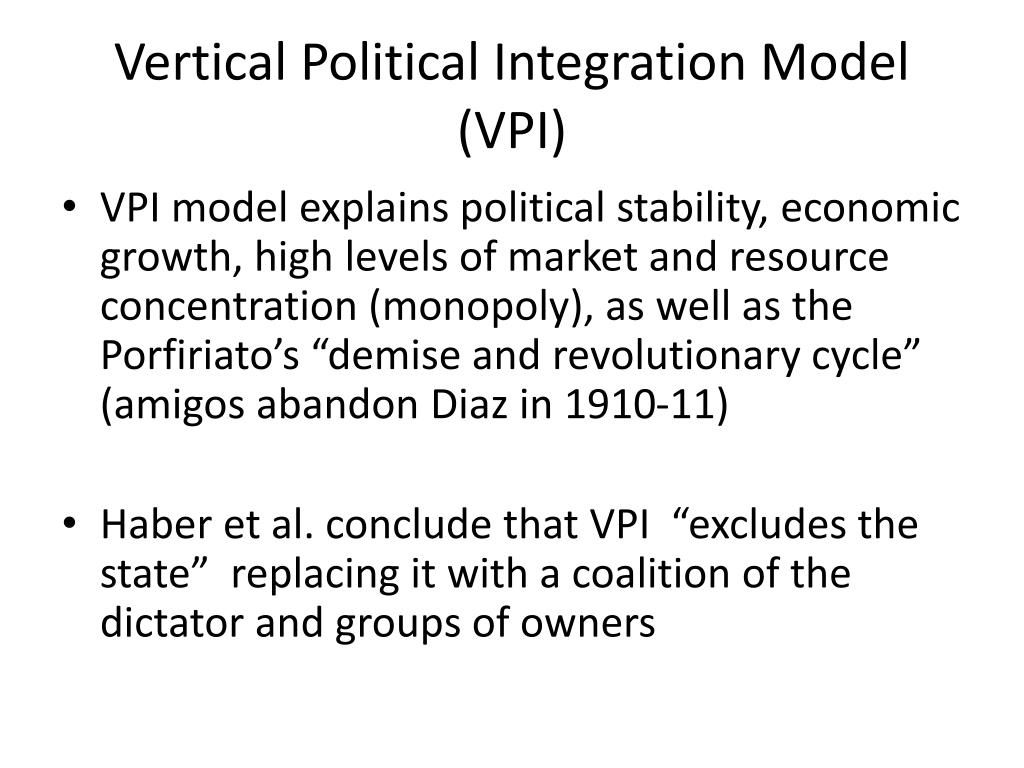 Vertical Political Integration Model (VPI)