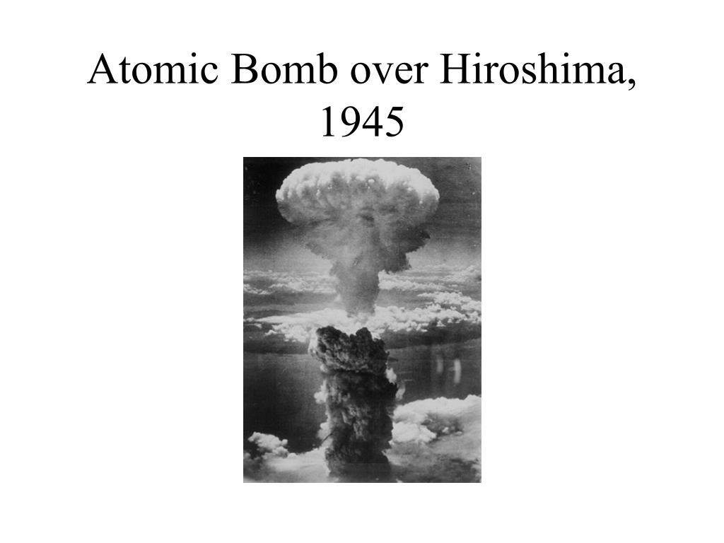 Atomic Bomb over Hiroshima, 1945
