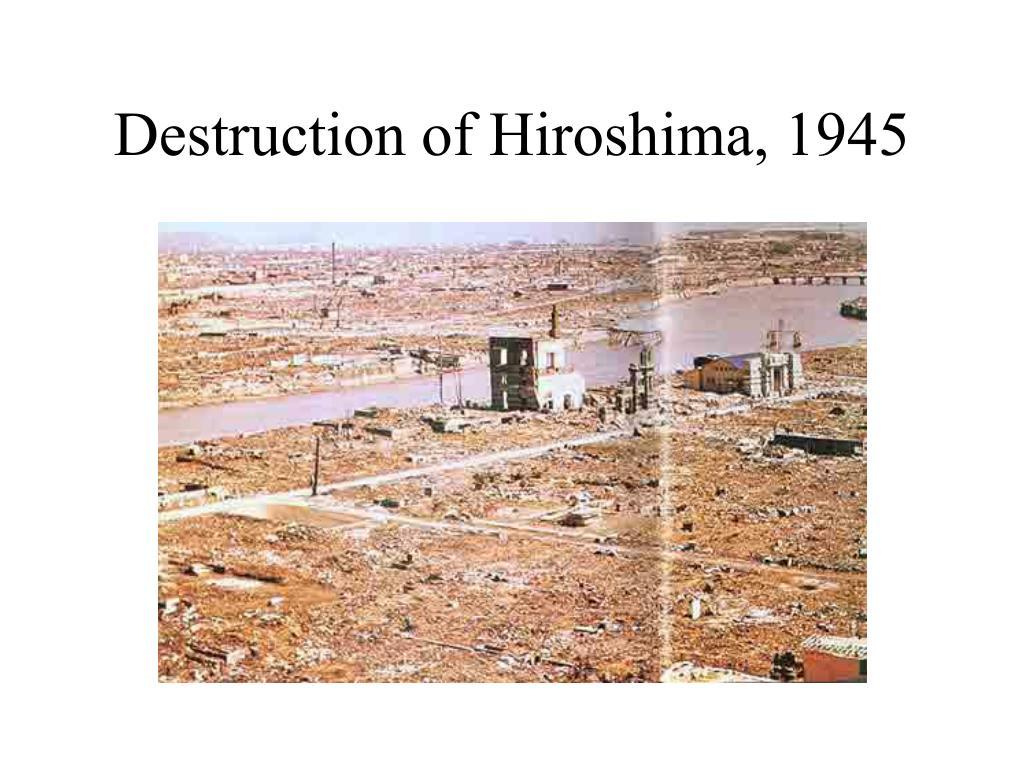 Destruction of Hiroshima, 1945