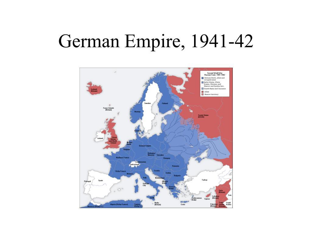 German Empire, 1941-42