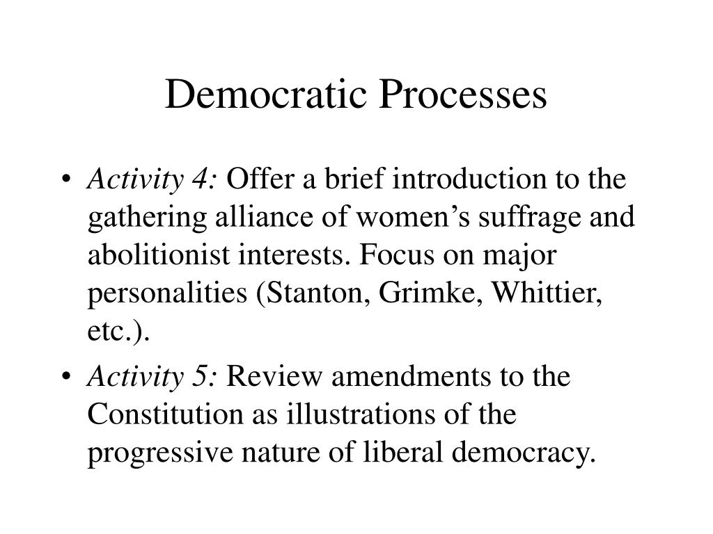 Democratic Processes
