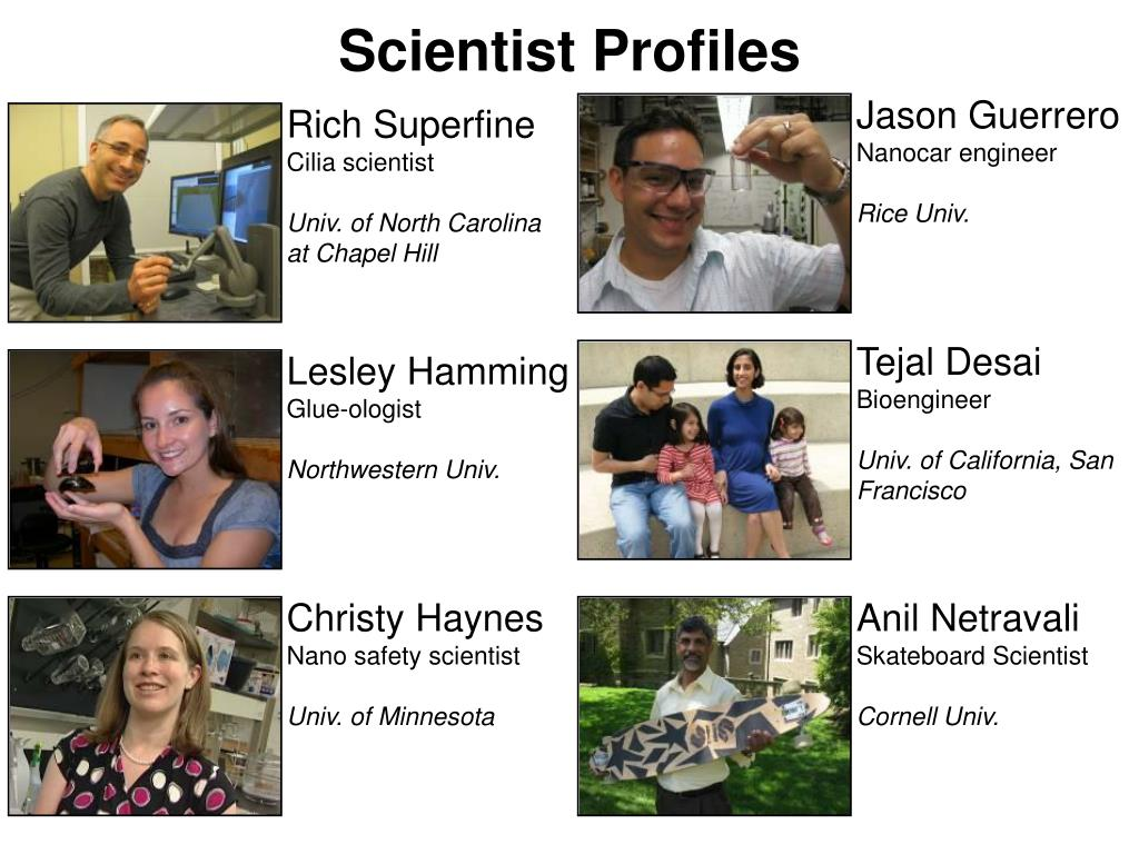 Scientist Profiles