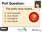 the prefix nano means