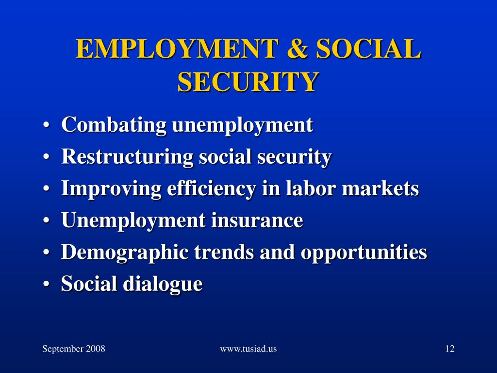 EMPLOYMENT & SOCIAL SECURITY