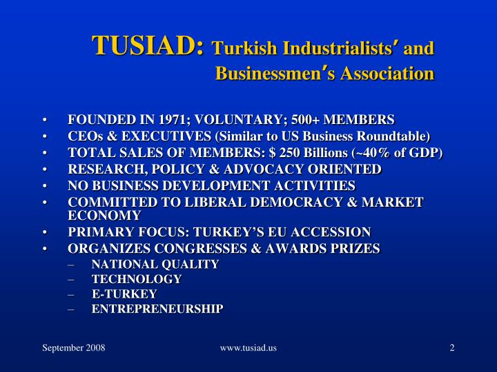 Tusiad turkish industrialists and businessmen s association