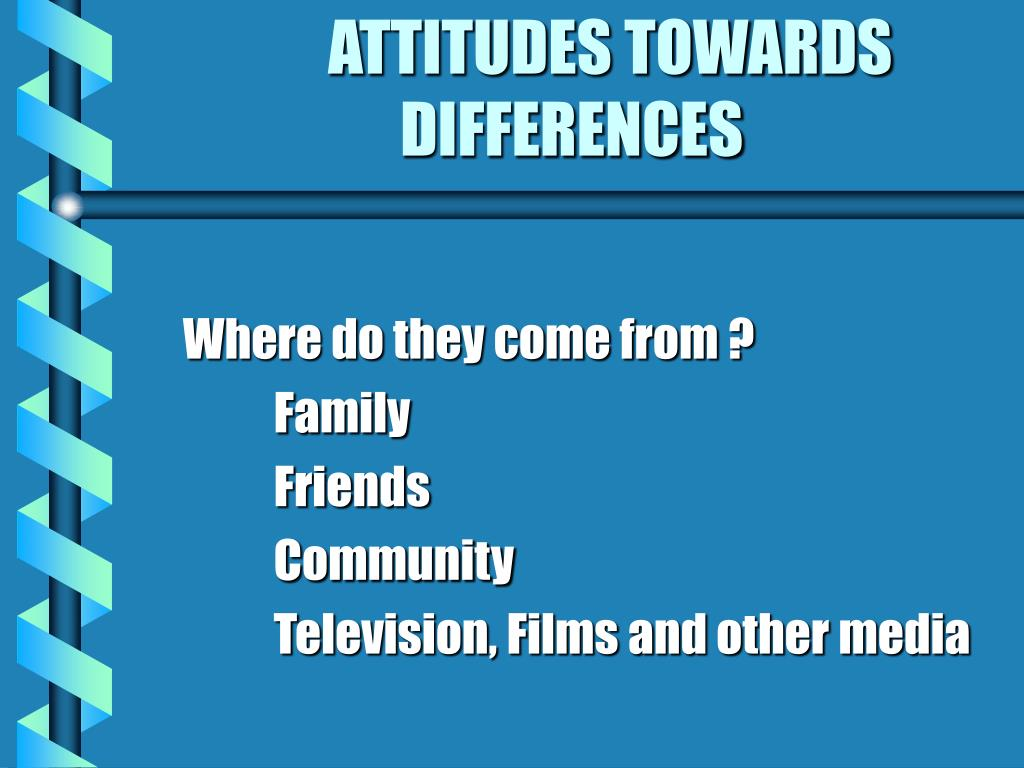 ATTITUDES TOWARDS DIFFERENCES