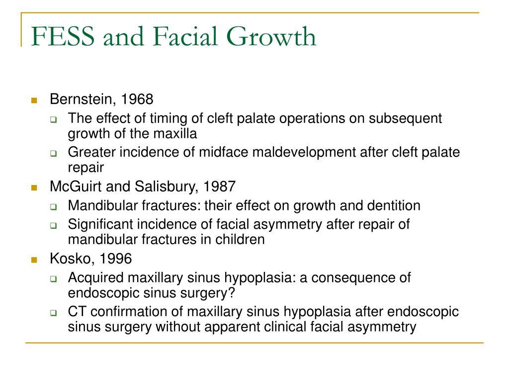 FESS and Facial Growth